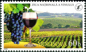 Moldovan wine - Moldovan postage stamp, dedicated to National Wine Day