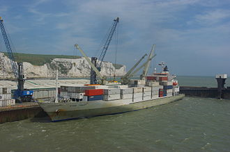 Port of Dover - Container Vessel unloading at Dover Port