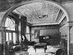 Tin ceiling - Tin ceiling in a private music room, Queensland, Australia, 1906