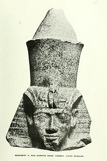 Head of a statue of Senusret II from Karnak
