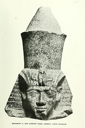 Senusret II - Head of a statue of Senusret II from Karnak