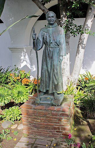 Junípero Serra - Statue of Junipero Serra at Mission San Diego de Alcalá in San Diego.