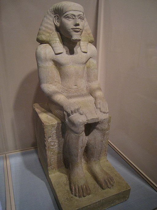 Statuette of Hapidefai, Egyptian, Middle Kingdom 2060-1780 BC, limestone - - Worcester Art Museum - IMG 7531