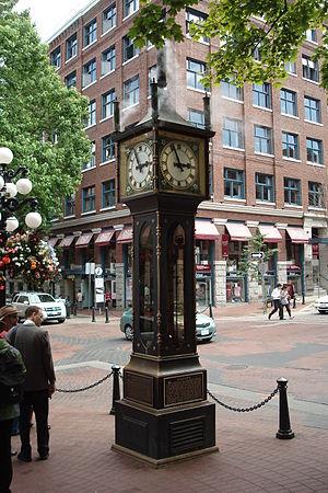 Water Street, Vancouver - Gastown steam clock
