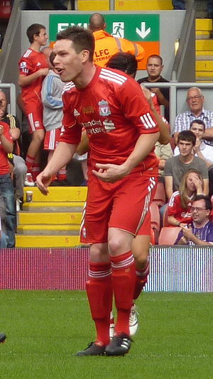 Steve Finnan - Finnan during Jamie Carragher's testimonial match in 2010