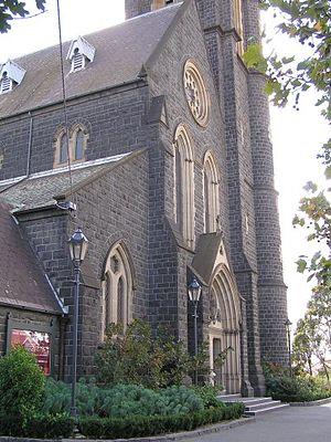 St Ignatius' Church, Richmond - Church entrance