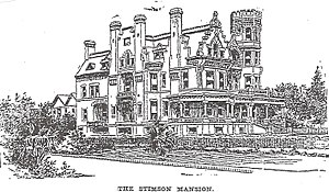 Stimson House - Drawing of Stimson House from Los Angeles Times, 1896