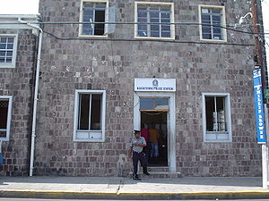 Basseterre - The Police Station in Basseterre.