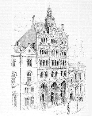 William Pitt (architect) - Pitt's busy, vertical Venetian Gothic design for the Melbourne Stock Exchange