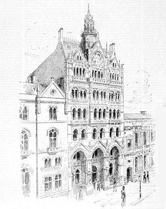 William Pitt (architect) - Pitt's busy, vertical Venetian Gothic design for the Melbourne Stock Exchange