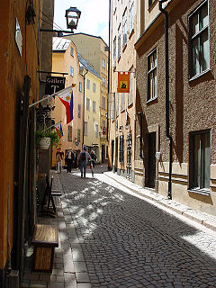 Österlånggatan street in Gamla stan, Stockholm, Sweden