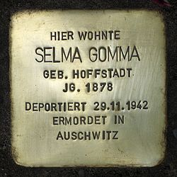 Photo of Selma Gomma brass plaque