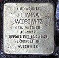 Stolperstein Anzengruberstr 10 (Neukö) Johanna Jacobowitz.jpg