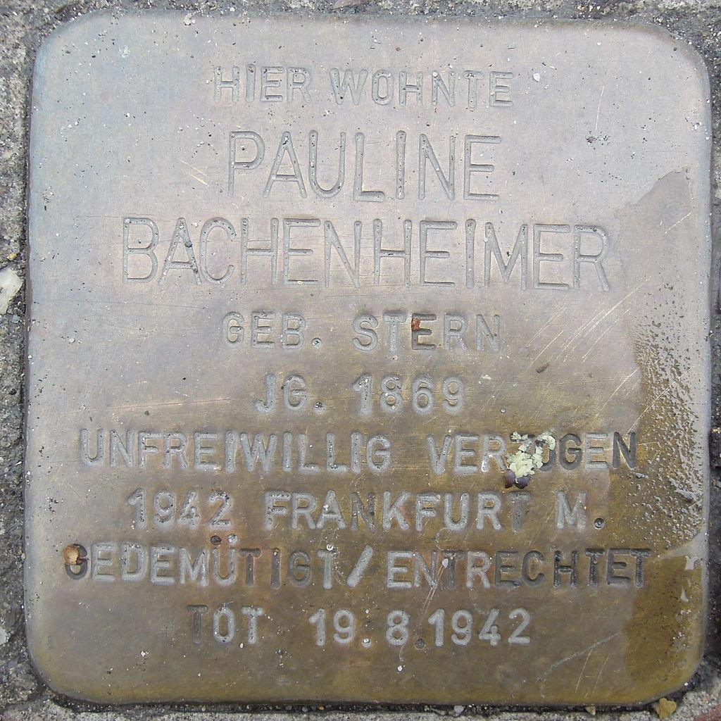 Stolperstein Bad Camberg Frankfurter Str. 8 Pauline Bachenheimer.jpg