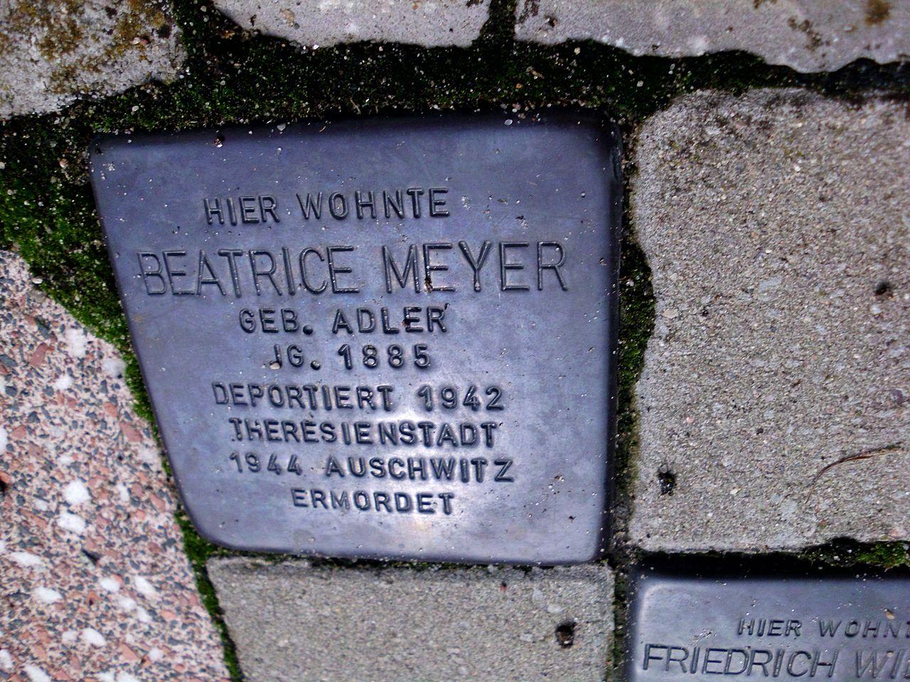 Stolperstein Beatrice Meyer.JPG
