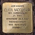 Stolperstein Bregenzer Str 9 (Wilmd) Clara Nadelmann.jpg