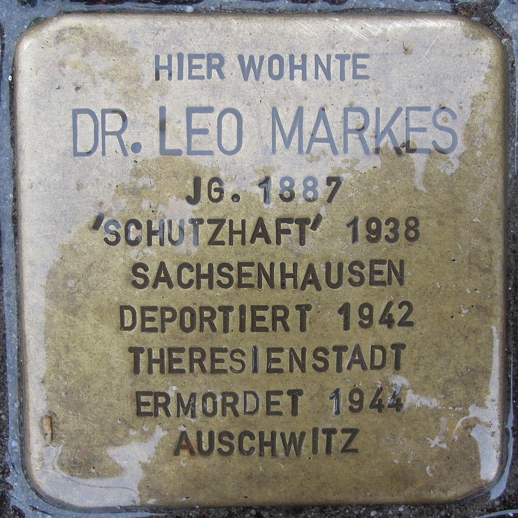 Stolperstein für Dr. Leo Markes