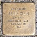 Stolperstein Julius Klein by 2eight 3SC1383.jpg