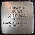 Stolperstein Kalkar Monrestraße 20 Oskar Schürmann.jpg