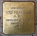 Stolperstein Meraner Str 8 (Schön) Wolf Felix Baum.jpg