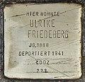 Stolperstein für Ulrike Friedeberg (Köln).jpg