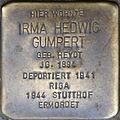 Stolpersteine Köln, Irma Hedwig Gumpert (Berrenrather Straße 383).jpg
