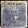 Stolpersteine Köln, Jakob Kaufmann (Dasselstraße 37).jpg