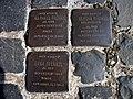Stolpersteins Raphael Frenkel, Bertha Frenkel, Erna Frenkel Crossing Burgstraße Im Äuelchen Bonn.JPG