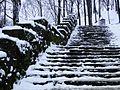 Stone stairs near Bednarski Park in Cracow.jpg
