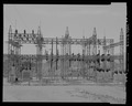 Straight view of 69-KV switchyard. View southwest. - Davis Dam, Switchyards, Southeast of Davis Dam, Kingman, Mohave County, AZ HAER AZ-77-A-13.tif