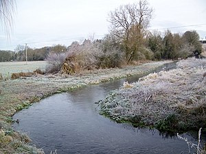 Gussage - The winterbourne stream linking the three villages