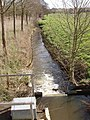 Stream and weir from Brantham Bridge on the A137 - geograph.org.uk - 362699.jpg