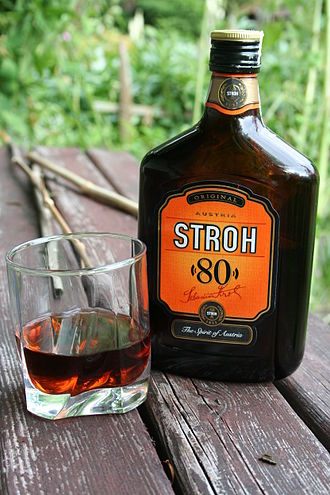 Stroh - Stroh 80 (ABV); labeled Stroh 160 (proof) U.S.