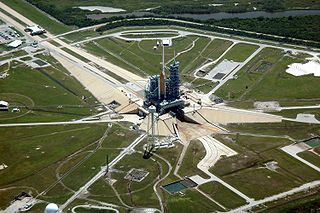 Launch pad facility from which rockets are launched