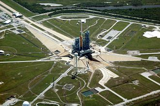 Launch pad - Launch pad at Kennedy Space Center Launch Complex 39B on Merritt Island, Florida