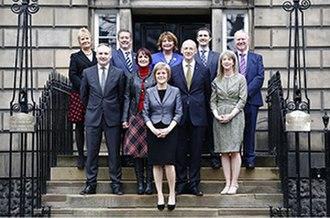 Scottish Government - The Scottish Cabinet (2014-16) headed by Nicola Sturgeon