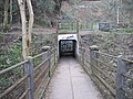 Subway access to the footbridge at Gwaelod-y-garth - geograph.org.uk - 2329494.jpg