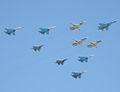 Sukhoi Su-34, Su-27, Su-27UB, Su-24MR, Micoyan&Gurevich MiG-29 (4258535237).jpg