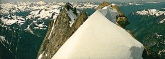 Dome Peak - Summit of Dome Peak with southwest peak to left