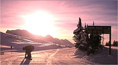 Sunshine Village ski resort