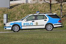 Saab 9 5 With The Swedish Police