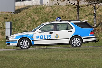 Saab 9-5 - Saab 9-5 with the Swedish Police