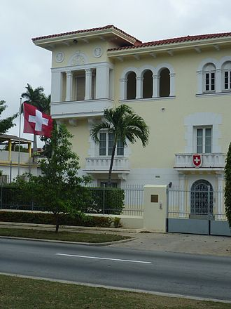 Foreign relations of Switzerland - Image: Swiss Embassy in Havana