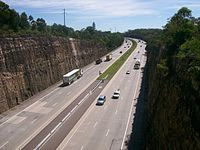 Sydney - Newcastle freeway north bound at Berowra.jpg