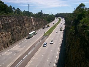 Pacific Motorway (Sydney–Newcastle) - Image: Sydney Newcastle freeway north bound at Berowra