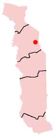Location of Kara in Togo