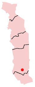 Location of Notsé in Togo