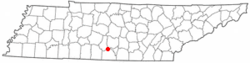 Location of Petersburg, Tennessee