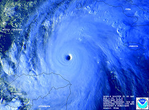 Hurricane Mitch at peak intensity. This image ...