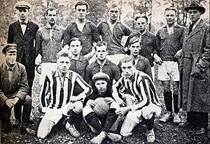 Finnish Workers' Sports Federation football team - TUL football squad in Petrograd, Soviet Russia in 1922